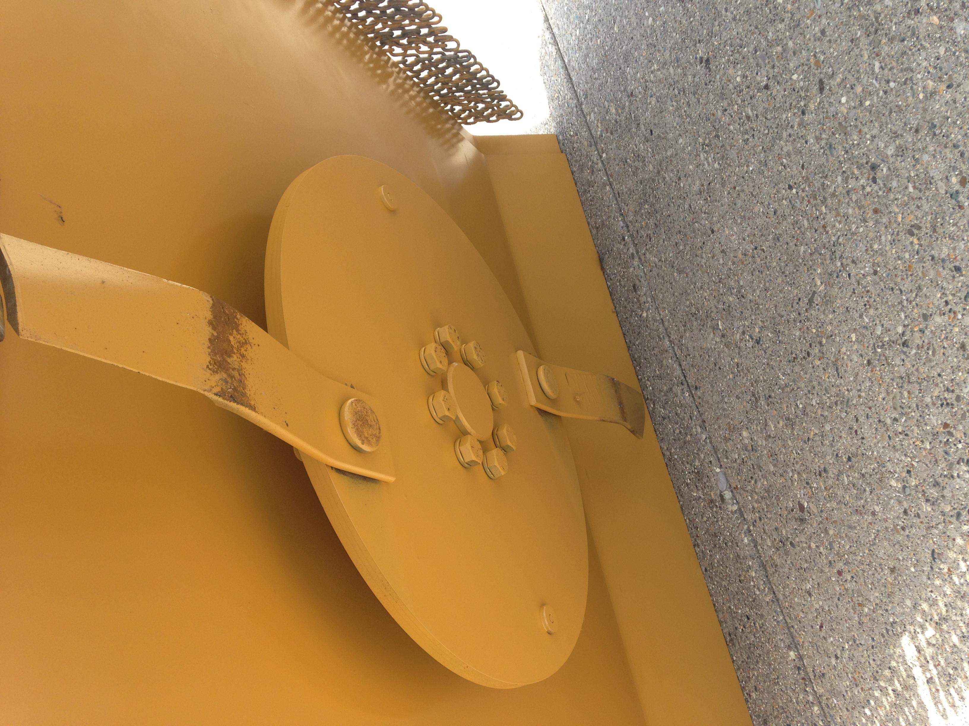 Model 970 brush shredder close-up